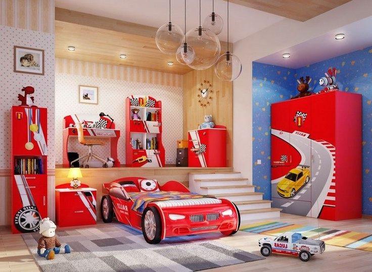 Chambre voiture garcon but chambre id es de d coration for Decoration maison voiture