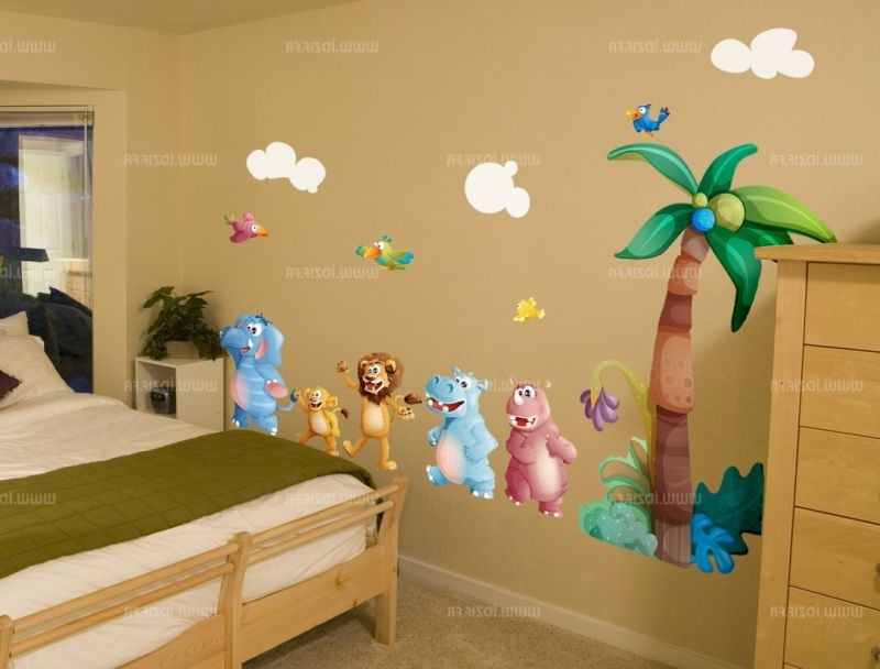 D co chambre b b savane jungle chambre id es de - Deco chambre bebe jungle ...