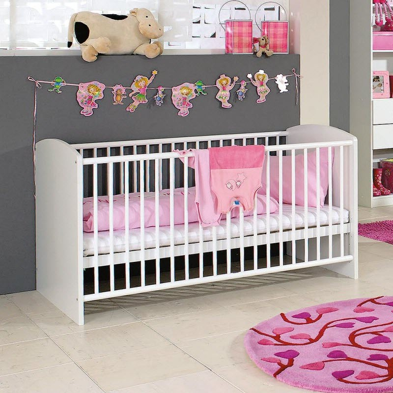 d coration chambre b b fille rose et gris chambre. Black Bedroom Furniture Sets. Home Design Ideas