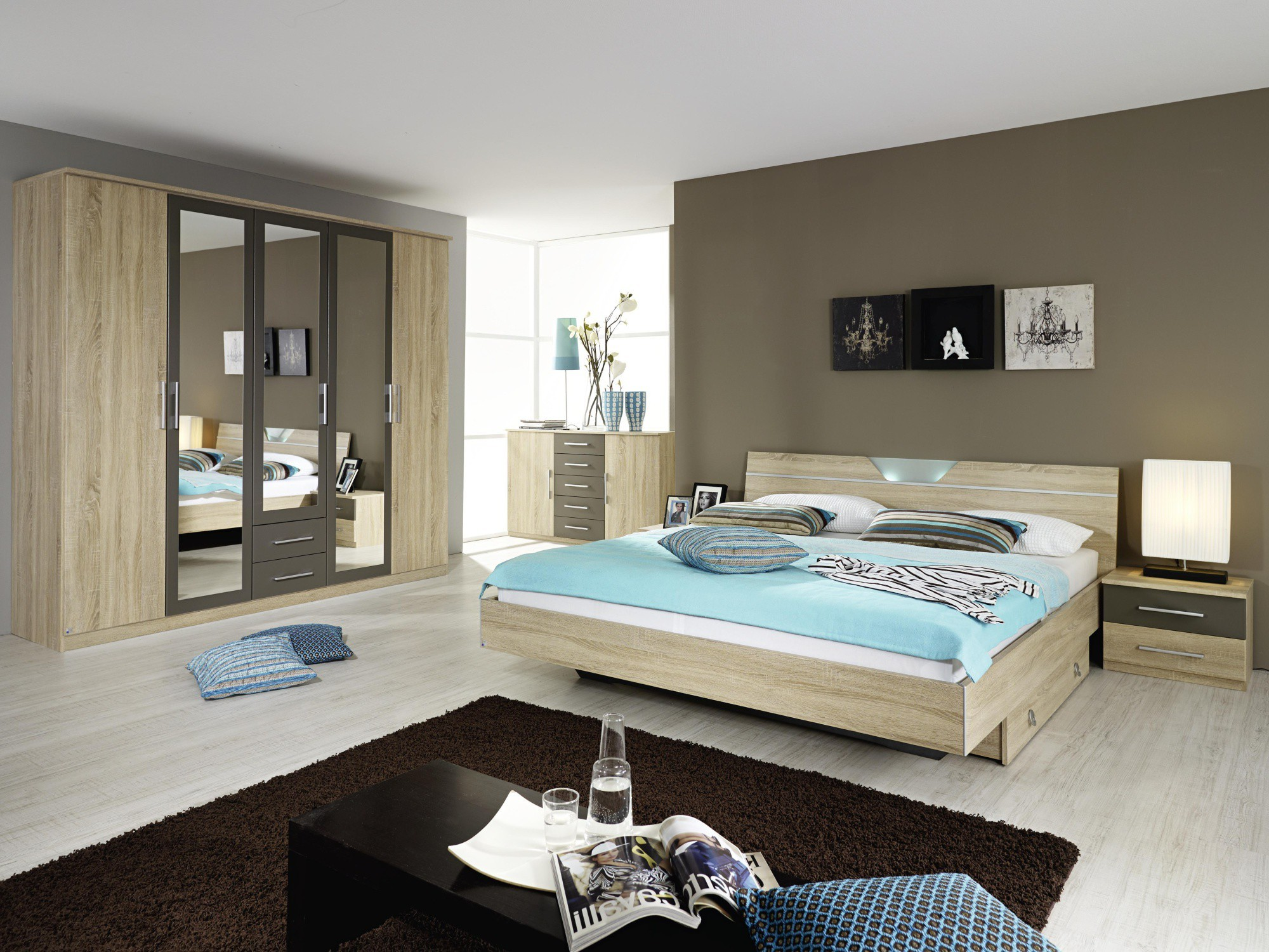 D coration chambre coucher adulte contemporaine chambre for Chambre a coucher contemporaine