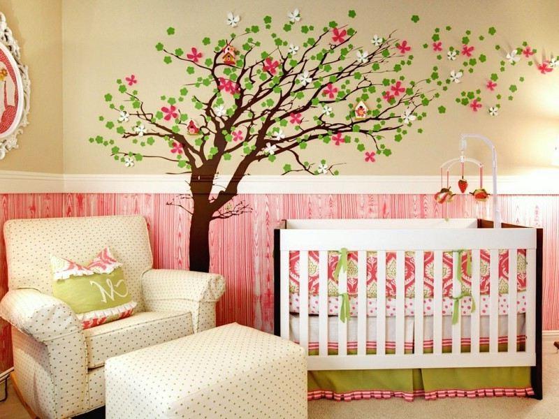 D coration murale chambre b b fille chambre id es de for Decoration murale bebe fille