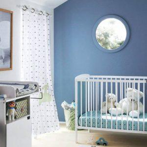 Deco chambre bebe garcon bleu et vert chambre id es de - Deco chambre bebe bleu gris ...
