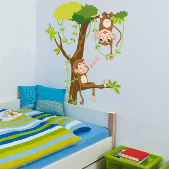 Deco chambre bebe jungle savane chambre id es de for Decoration chambre jungle