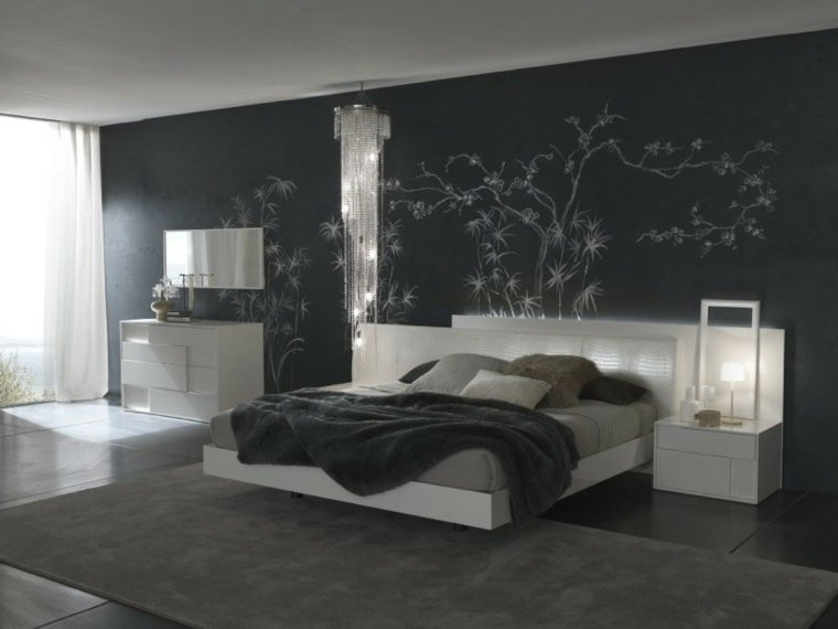 deco peinture mur chambre adulte chambre id es de. Black Bedroom Furniture Sets. Home Design Ideas