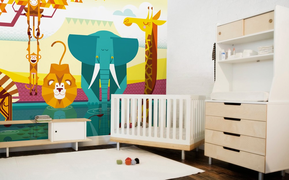 decoration chambre bebe jungle chambre id es de. Black Bedroom Furniture Sets. Home Design Ideas