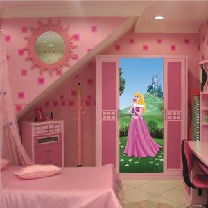 Decoration chambre de fille princesse chambre id es de for Decoration maison disney