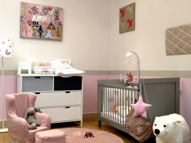 Id e peinture chambre b b fille chambre id es de for Idee peinture chambre bebe fille