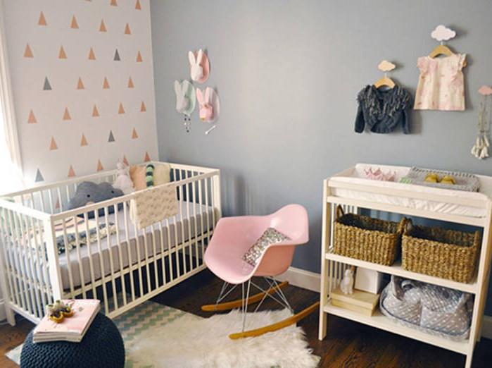Papier peint pour chambre de bebe fille chambre id es for Papier peint chambre bebe fille