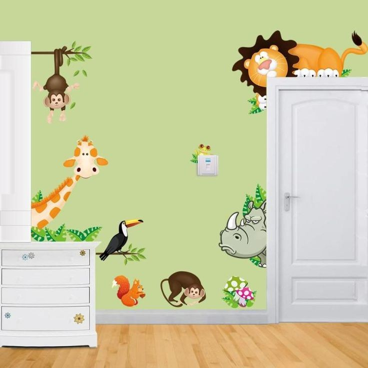 sticker chambre bebe jungle chambre id es de. Black Bedroom Furniture Sets. Home Design Ideas