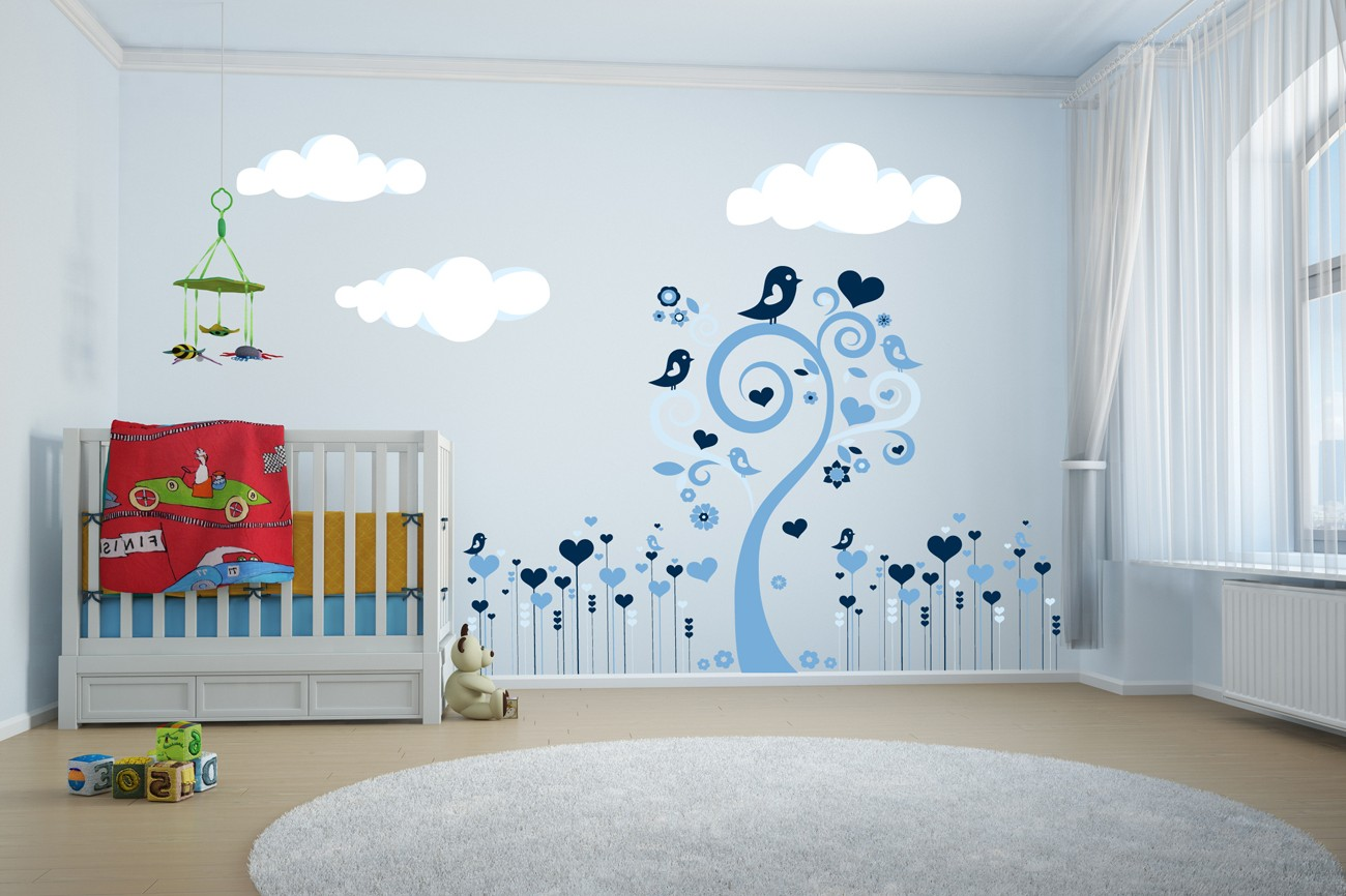 Amazing stickers arbre chambre bb garcon with stickers for Chambre bb garcon