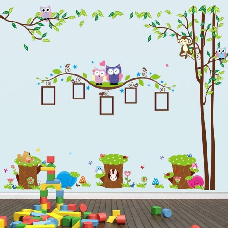 Stickers Muraux Animaux Pour Chambre Bébé