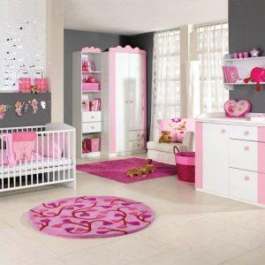 Tapis Chambre Bébé Fille Gris Et Rose