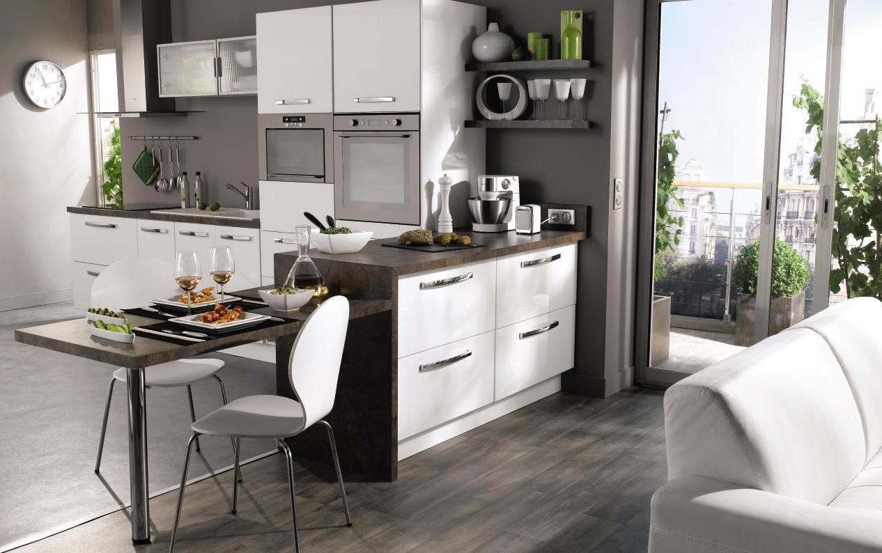 Aménagement De Cuisine Ouverte Sur Salon aménagement petite cuisine ouverte sur salon - cuisine