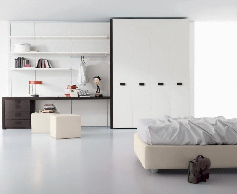 Armoire Chambre Porte Coulissante Blanc