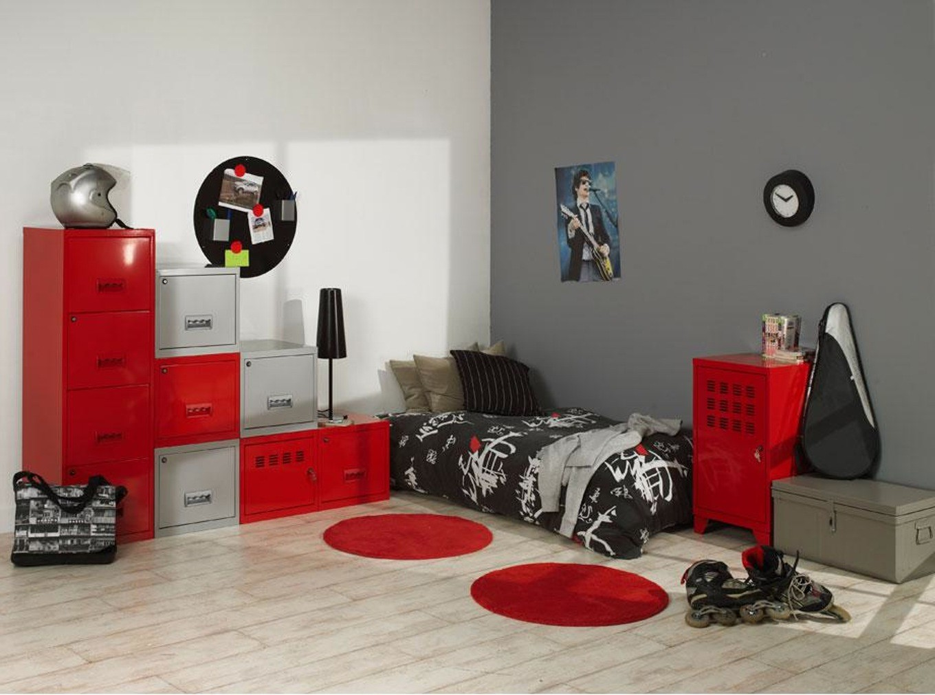 chambre ado gar on new york chambre id es de. Black Bedroom Furniture Sets. Home Design Ideas