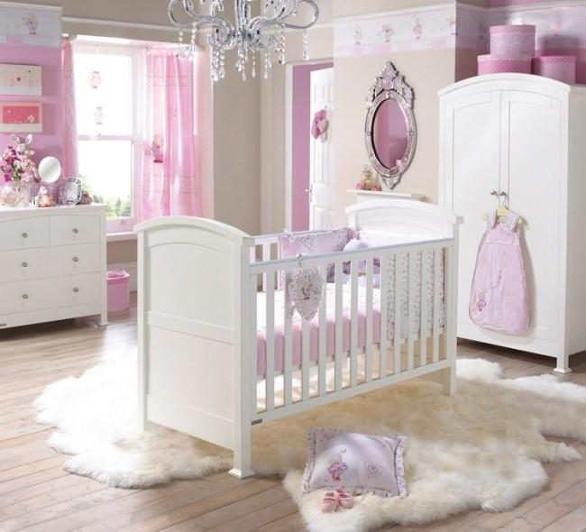 Chambre Bébé Fille Rose Et Beige