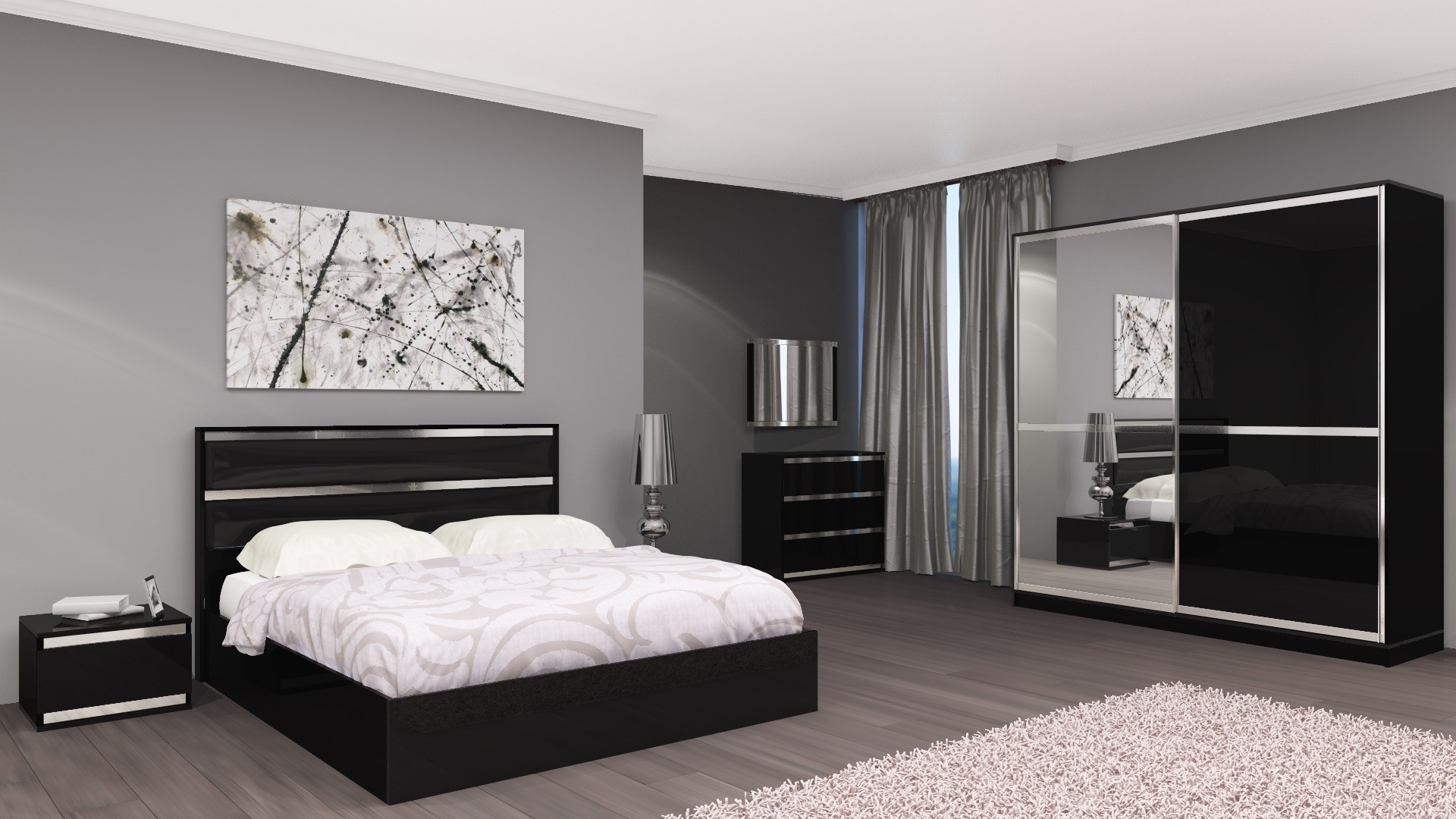 Chambre complete adulte design chambre id es de for Chambre complete design