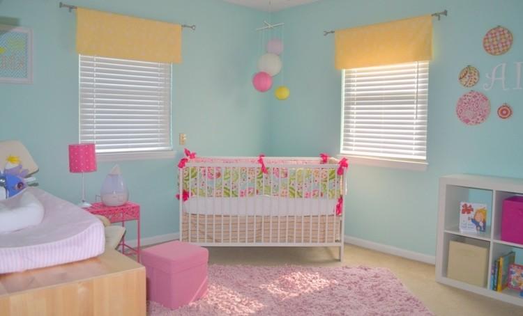 Chambre De Bébé Fille Bleu