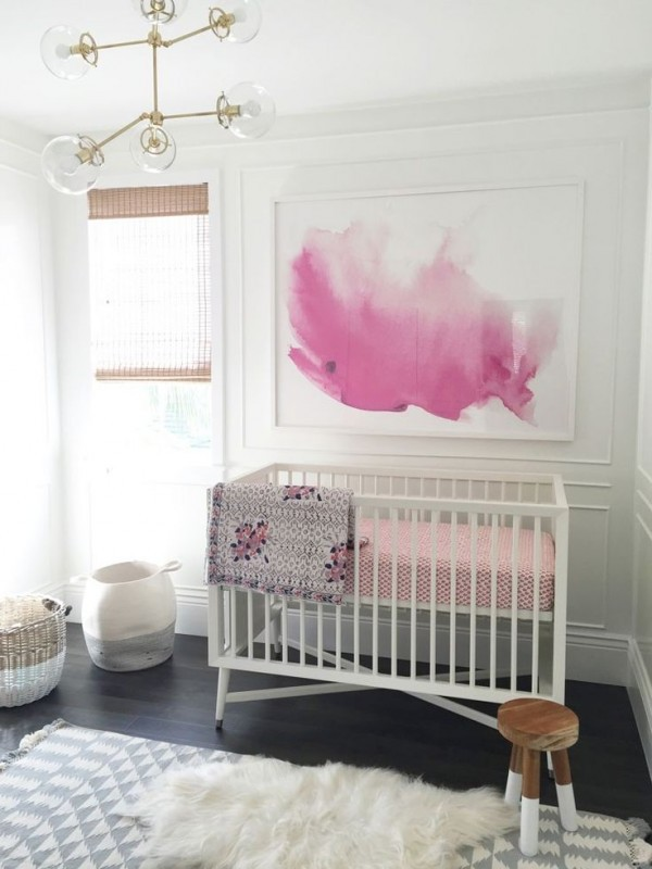 Chambre De Bébé Fille Gris Et Rose