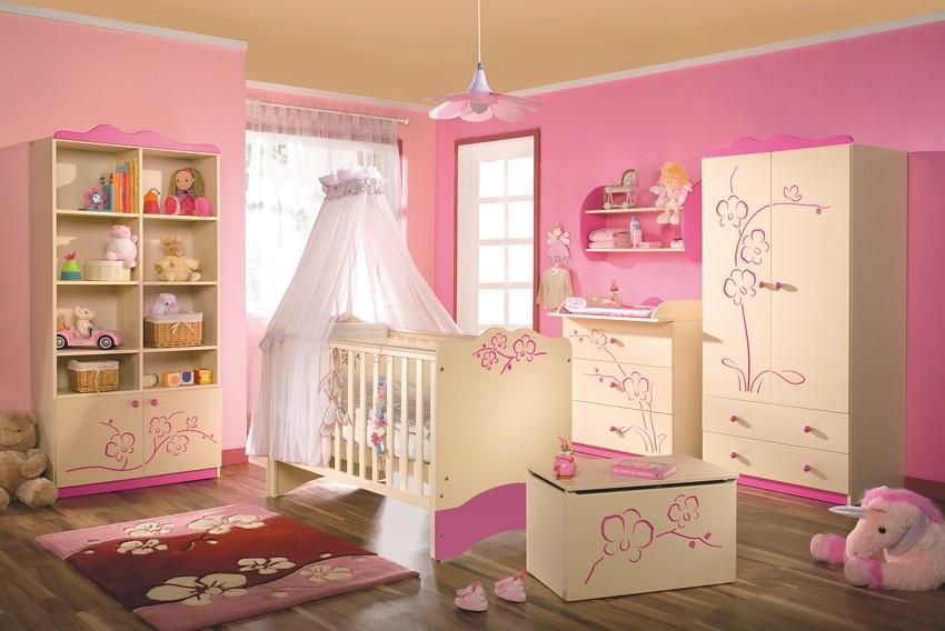 Chambre De Bébé Fille Rose