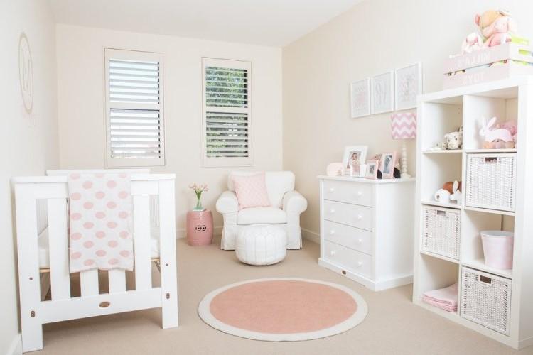 Chambre De Fille Rose Et Blanc