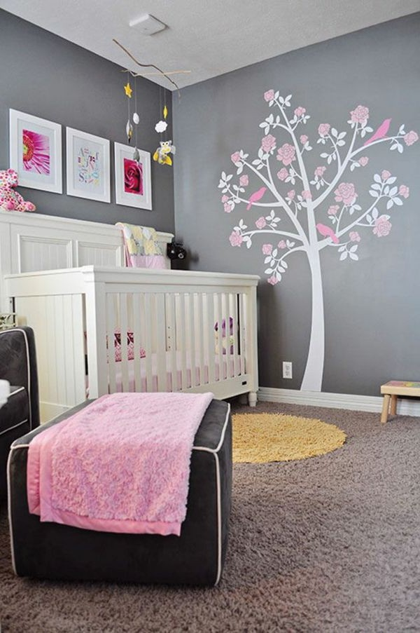 Chambre De Fille Rose Et Gris