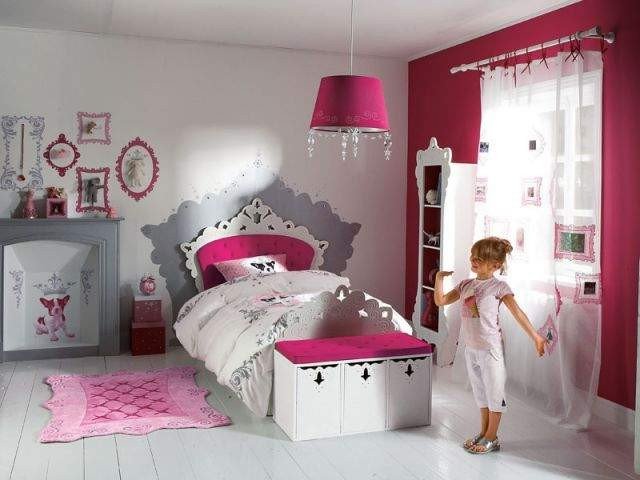 Chambre De Fille Rose Et Noir