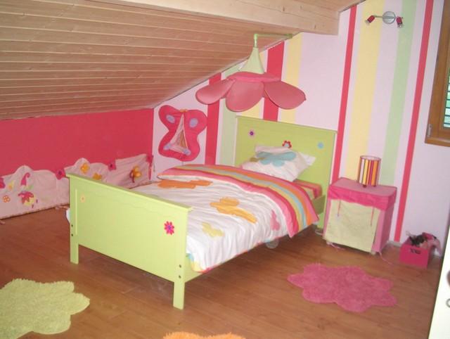Chambre De Fille Rose Et Vert