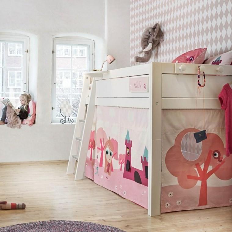 chambre fille lit cabane chambre id es de d coration de maison 89l73eol2g. Black Bedroom Furniture Sets. Home Design Ideas