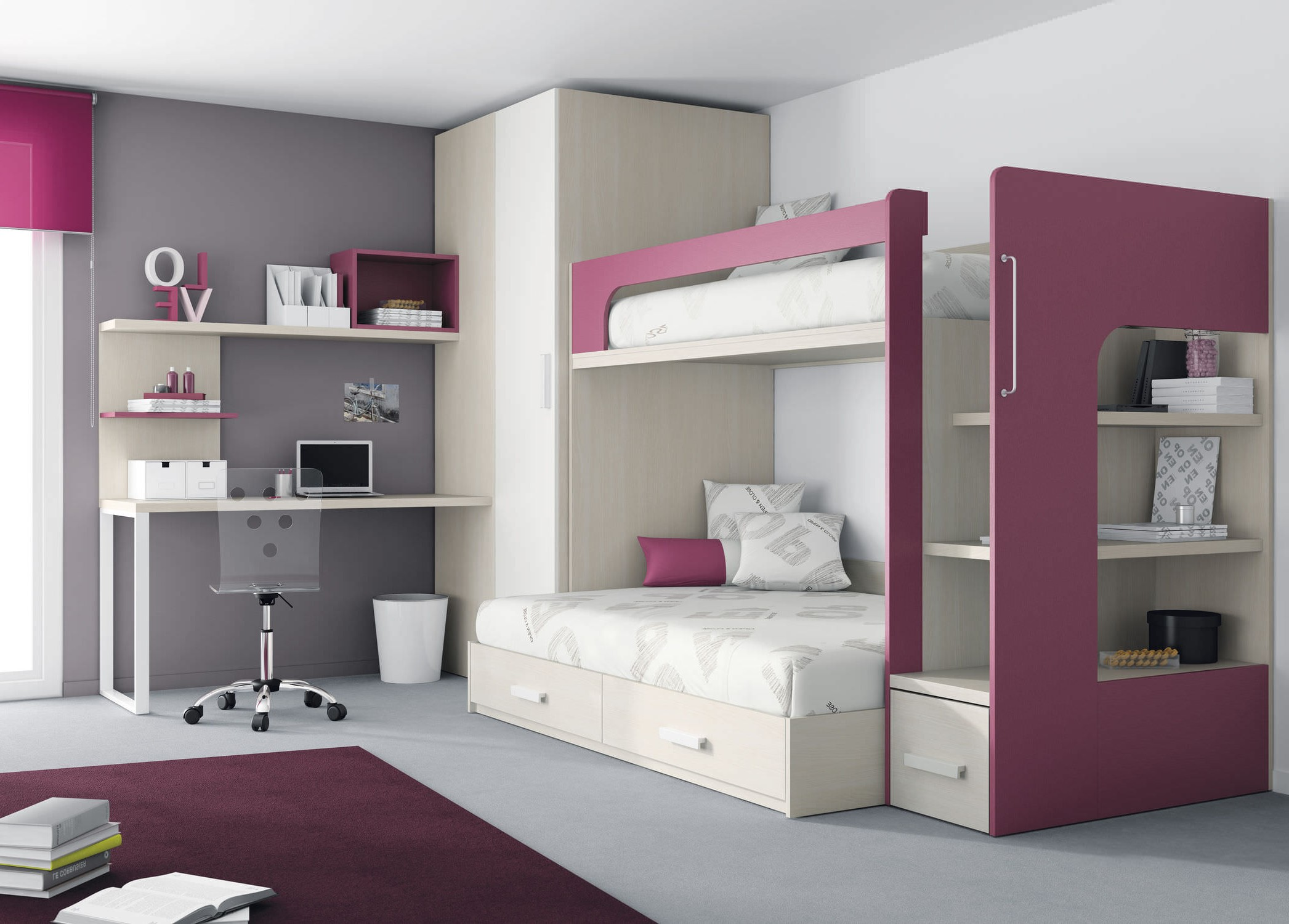 chambre mixte pour garcon et fille chambre id es de. Black Bedroom Furniture Sets. Home Design Ideas