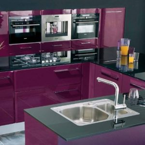 cuisine couleur aubergine et gris cuisine id es de d coration de maison lbla3gqbm7. Black Bedroom Furniture Sets. Home Design Ideas