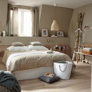 Chambre Adulte Bois Naturel - Chambre : Idées de Décoration de ...
