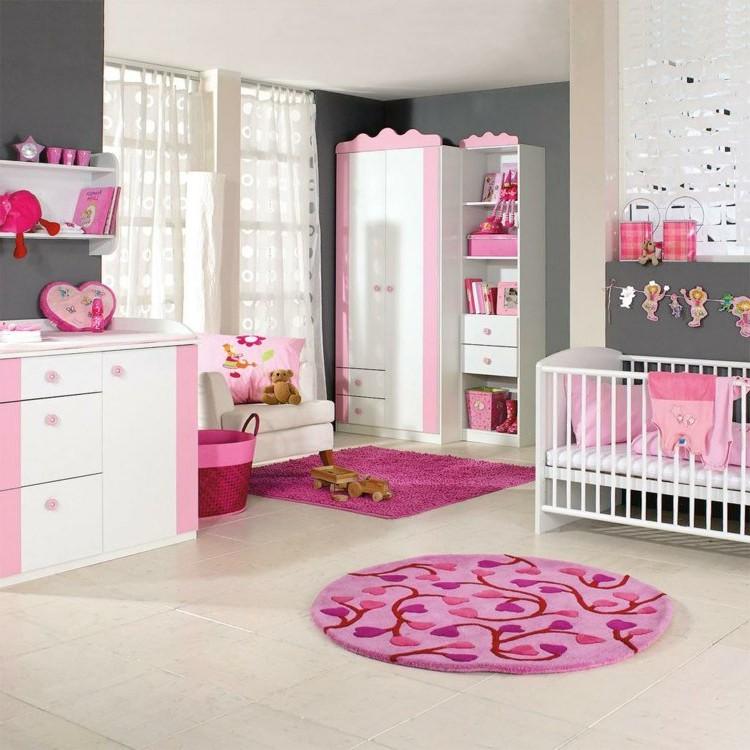 Deco Chambre Bebe Fille Rose Gris