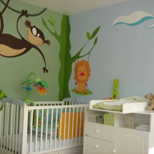 Tag re murale pour chambre b b chambre id es de for Decoration murale chambre bebe