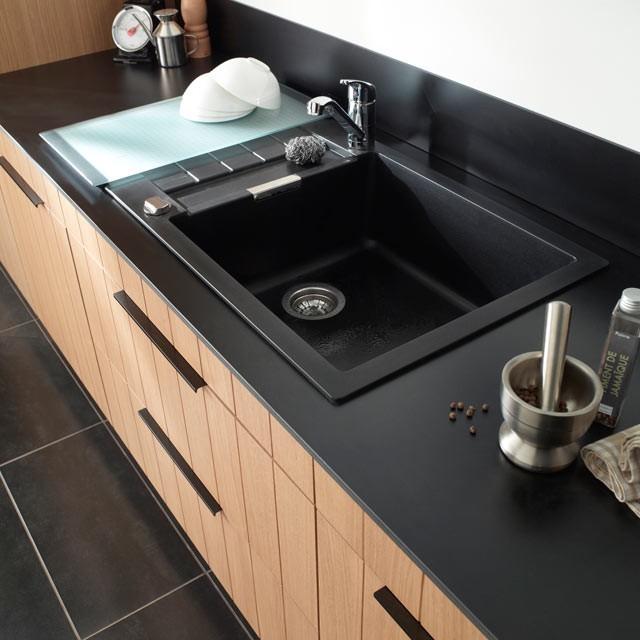 Evier Cuisine Granit Noir 1 Bac