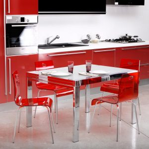 Ikea Chaise De Cuisine Rouge