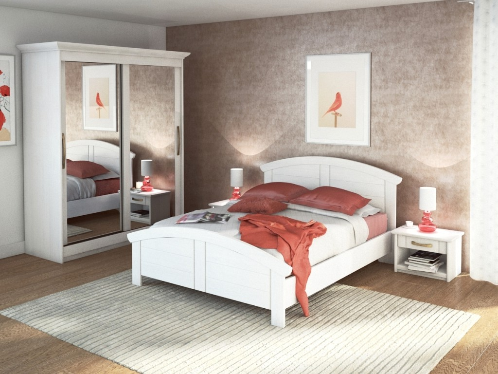 Meuble de chambre a coucher blanc chambre id es de for Meuble blanc chambre