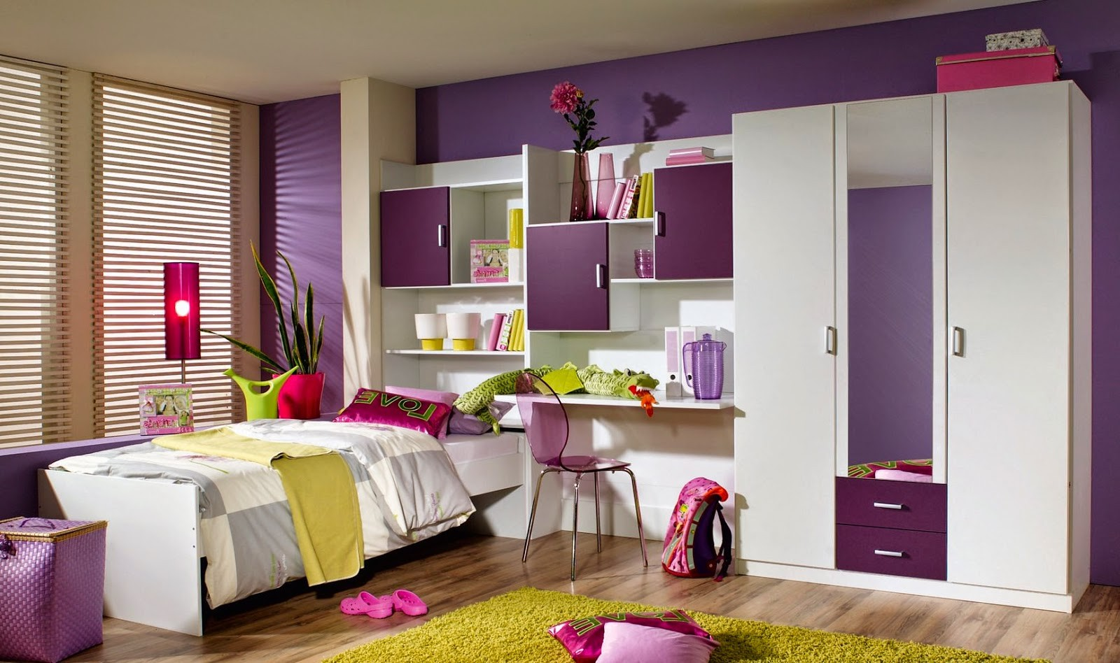 Meuble de chambre a coucher pour fille chambre id es for Idees de decoration de chambre a coucher