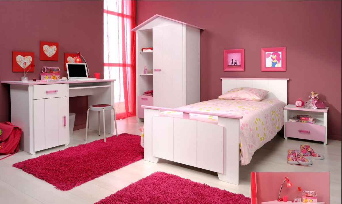 meuble chambre pour fille. Black Bedroom Furniture Sets. Home Design Ideas