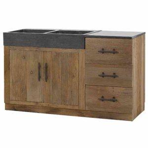 meuble sous evier cuisine bois