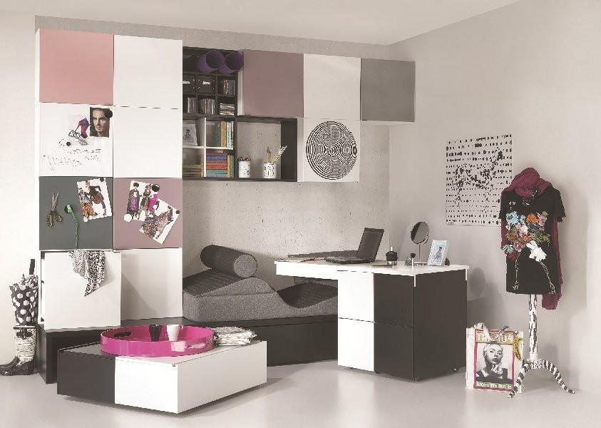 meubles rangement chambre fille chambre id es de d coration de maison 56lg4q1d30. Black Bedroom Furniture Sets. Home Design Ideas