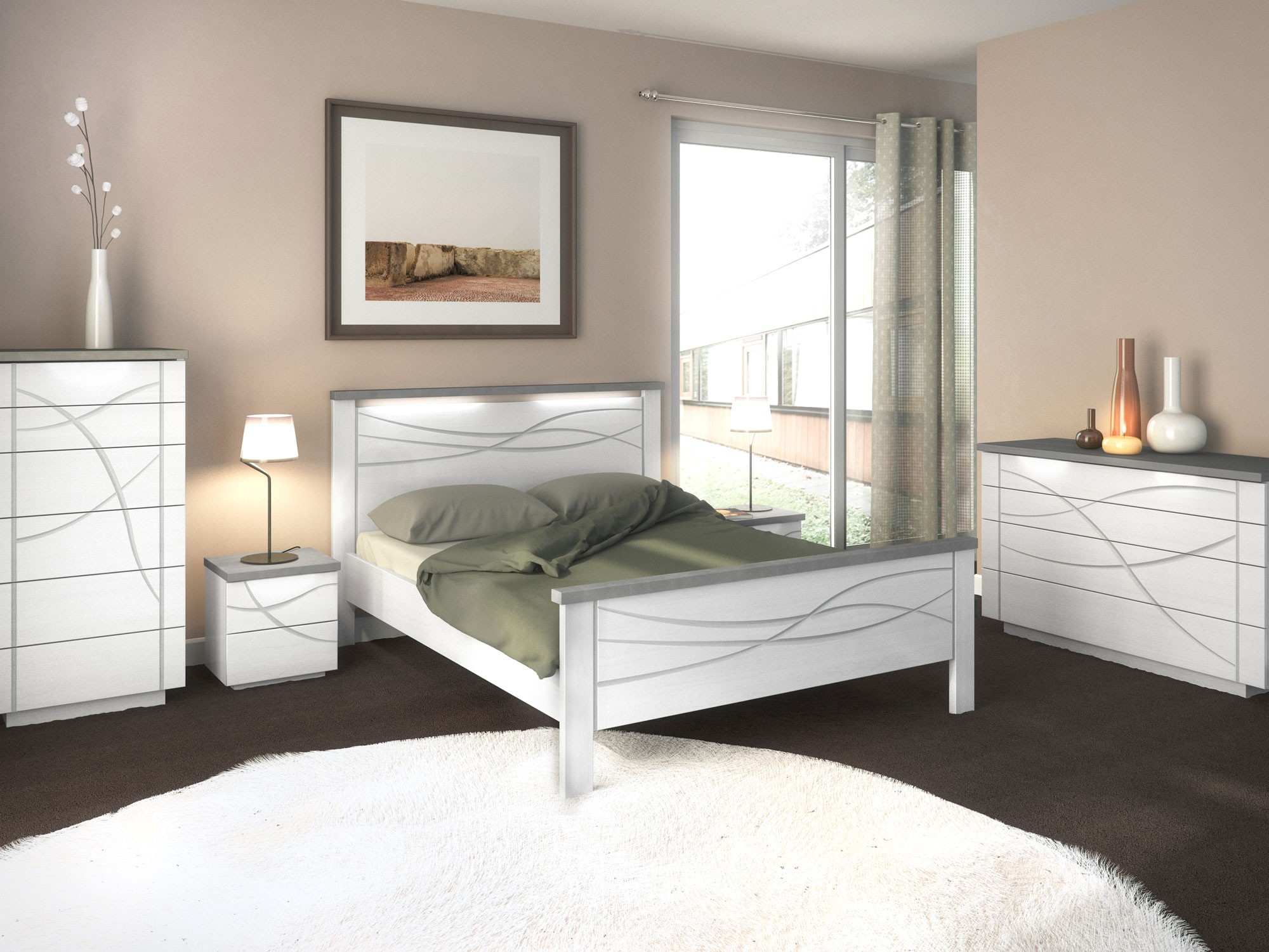 mobilier chambre a coucher adulte chambre id es de. Black Bedroom Furniture Sets. Home Design Ideas