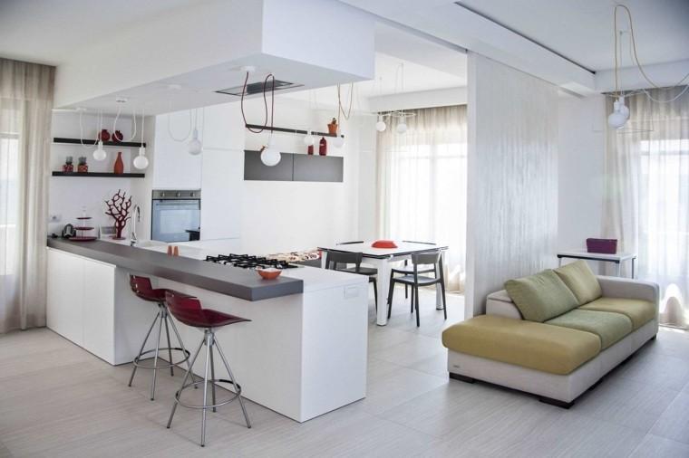 Modele cuisine ouverte salon cuisine id es de for Amenagement cuisine salon 40m2