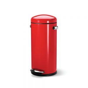 Poubelle Cuisine Design Rouge