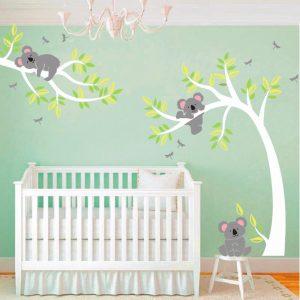 stickers arbre chambre b b garcon chambre id es de. Black Bedroom Furniture Sets. Home Design Ideas