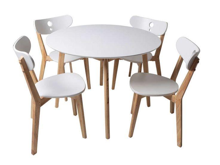 Ensemble Table Ronde Et Chaises De Cuisine