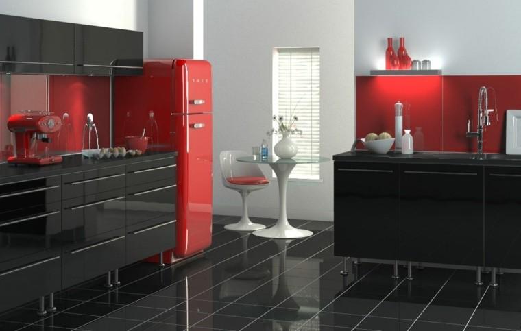Faience Cuisine Moderne Rouge