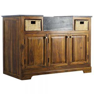 Meuble bas cuisine bois massif with meuble cuisine en bois for Porte placard cuisine bois massif