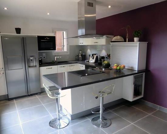 Beautiful meuble haut cuisine vitre photos - Meuble haut vitre cuisine ...