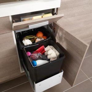 poubelle de cuisine sous evier 30l cuisine id es de. Black Bedroom Furniture Sets. Home Design Ideas